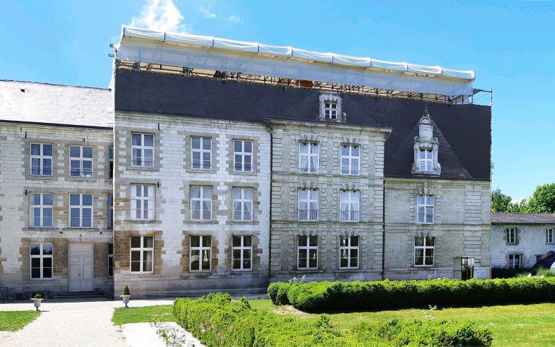 trompe-l-oeil-facade-arrière-Chateau-de-Vitry-La-ville-Bâches-de-France